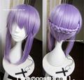 Seraph Of The End Shinoa Hiragi Long Purple High Quality Cosplay Wig Owari no Seraph Hiragi Shinoa Synthetic Hair Wigs + Hairpin
