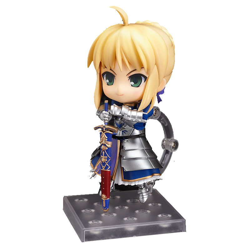 """Cute 4"""" Number Nendoroid 121 Fate Stay Night Saber Face Changable Movable PVC Action Figure Model Collection Toy 10cm KT427"""