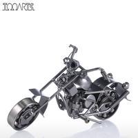 Tooarts Fer Art Moto Figurine Artisanat Figurine En Métal Américain Style Artisanat Cadeau Pour La Maison Décoration
