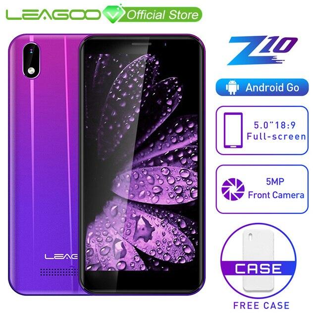 "LEAGOO Z10 Android โทรศัพท์มือถือ 5.0 ""18:9 หน้าจอ 1GB RAM 8GB ROM MT6580 Quad Core 2000mAh 5MP กล้องสมาร์ทโฟน Dual SIM 3G"
