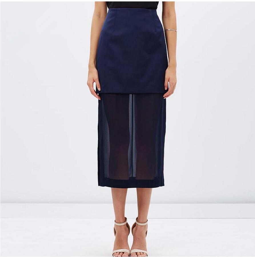 FFTAIQI new street fashion spring summer all mtach woman font b skirt b font casual patchwork