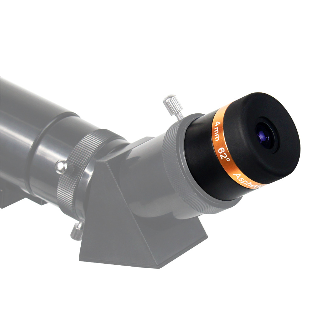 Eyepiece Telescope Wide Angle 62 Degree Lens for 1.25 inch 31.7mm Astronomy Telescope