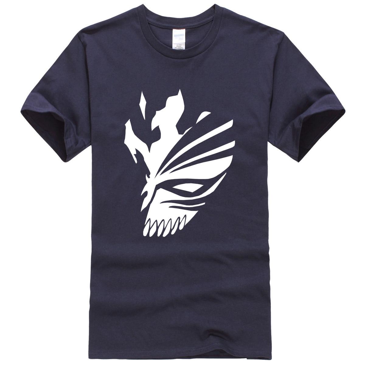 Dark Blue Bleach T-Shirt Anime White Print