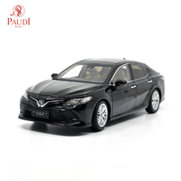 Paudi Model 1/18 1:18 Scale Toyota Camry 2018 8th Generation Black Diecast Model Car Collection Toy Model Car Doors Open