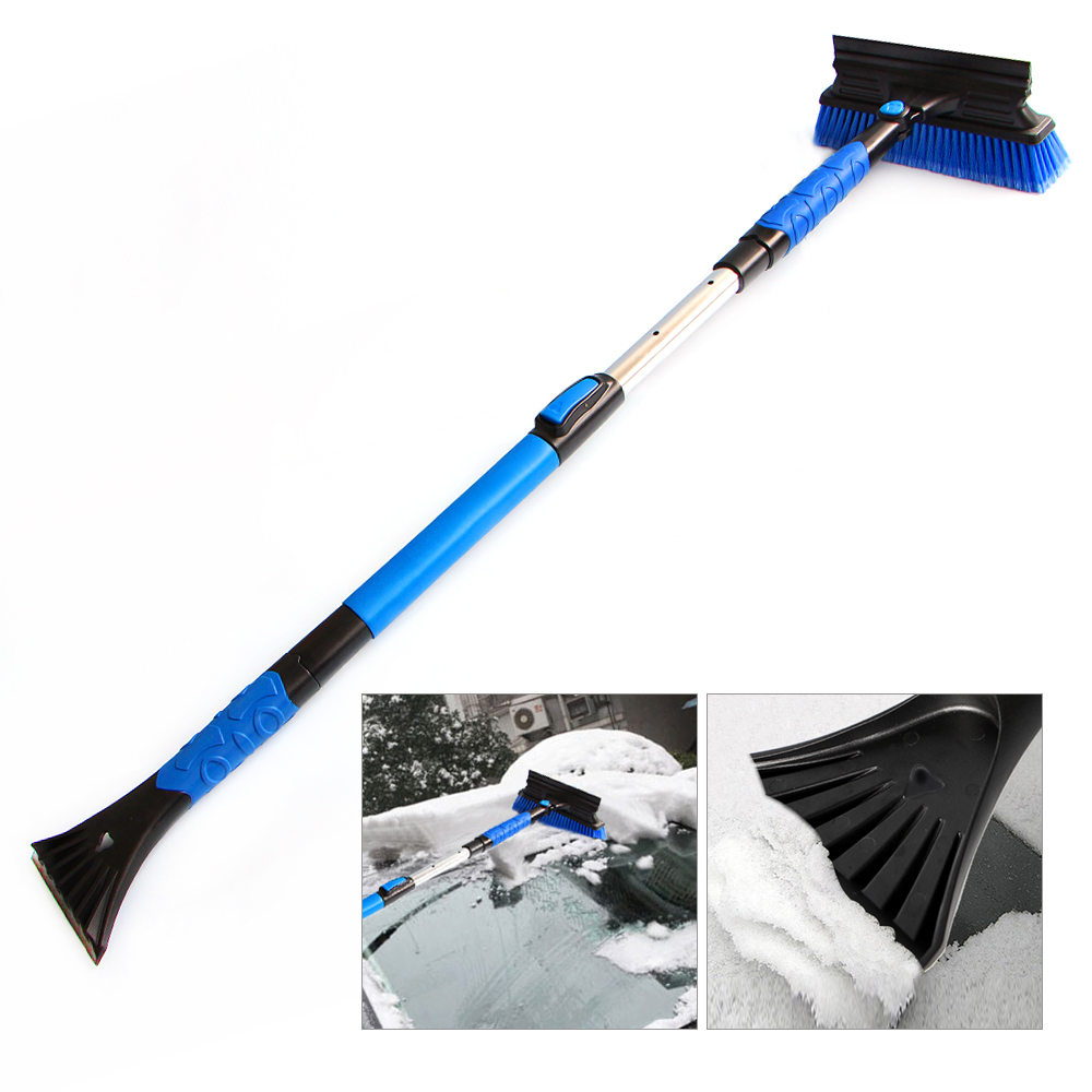 Retractable Handle Snow Shovel Snow Brush Car Cleaning Winter Car Auto Ice Scraper Car SUV Truck Rotatable Brush Car Acessorie cy668 mini car cleaning dusting brush w grip handle black grey