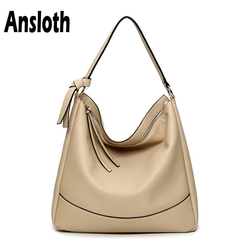 Shoulder Bags Women's Bags Ansloth Simple Women Shoulder Bag Handbags Soft Pu Leather Bags For Women Crossbody Bag Casual Big Totes Shopping Bags Hps125 Removing Obstruction