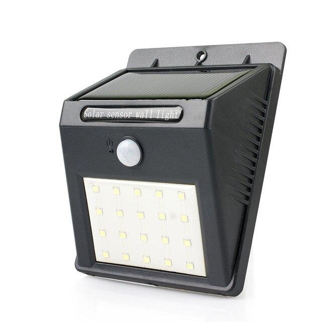 Solar Wand Nachtlicht Helle 20 Led Melder Bewegungsmelder Wandlampen