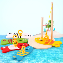 Wooden Baby Early Education Laps ChildrenS Creative Fishing Fun Toys Children Sense Development