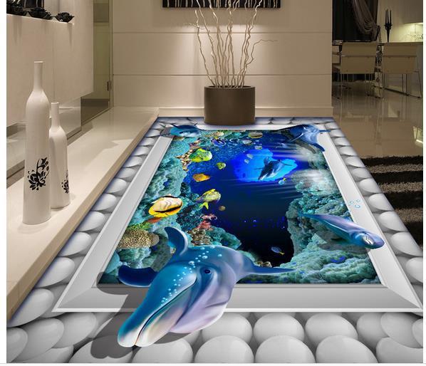 Aparador De Inox Para Cozinha ~ Casa de banho submarino adesivo parede murais papel de