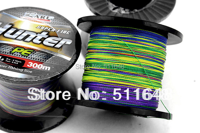 Free Shipping Multicolor 300M/PCS PE Braid Fishing Lines 10,15,20,25,30,35,40,45 50 60 70 80 90LB