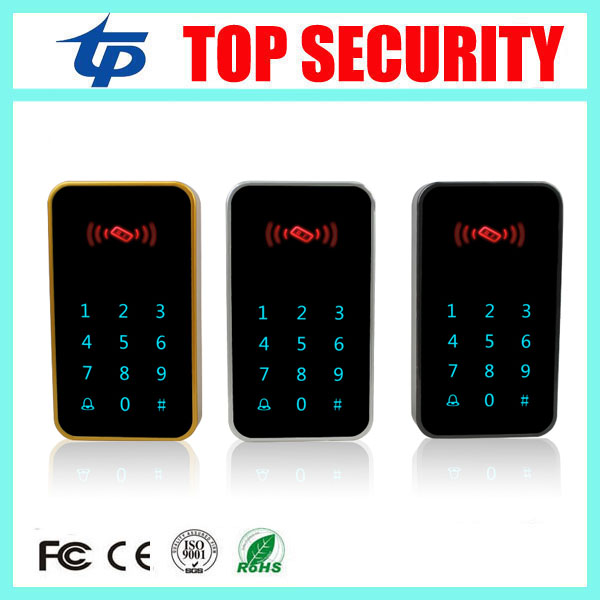 Good quality touch waterproof keypad proximity RFID card EM card access control reader standalone single door access controller good quality metal case face waterproof rfid card access controller with keypad 2000 users door access control reader