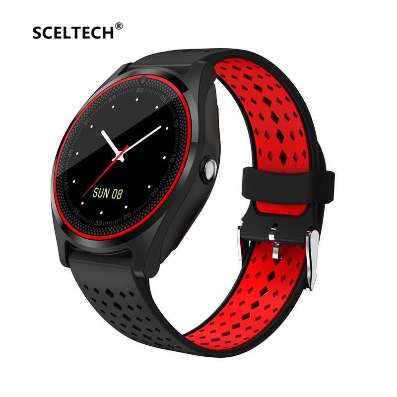 SCELTECH Bluetooth Smart Watch V9 with Camera Smartwatch Pedometer Health Sport Clock Hours Men Women Smartwatch For Android IOS цена
