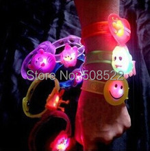 Free shipping, Cartoon light bracelet,LED bracelet light up for party Christmas,glowing watch,suitable for children and adult