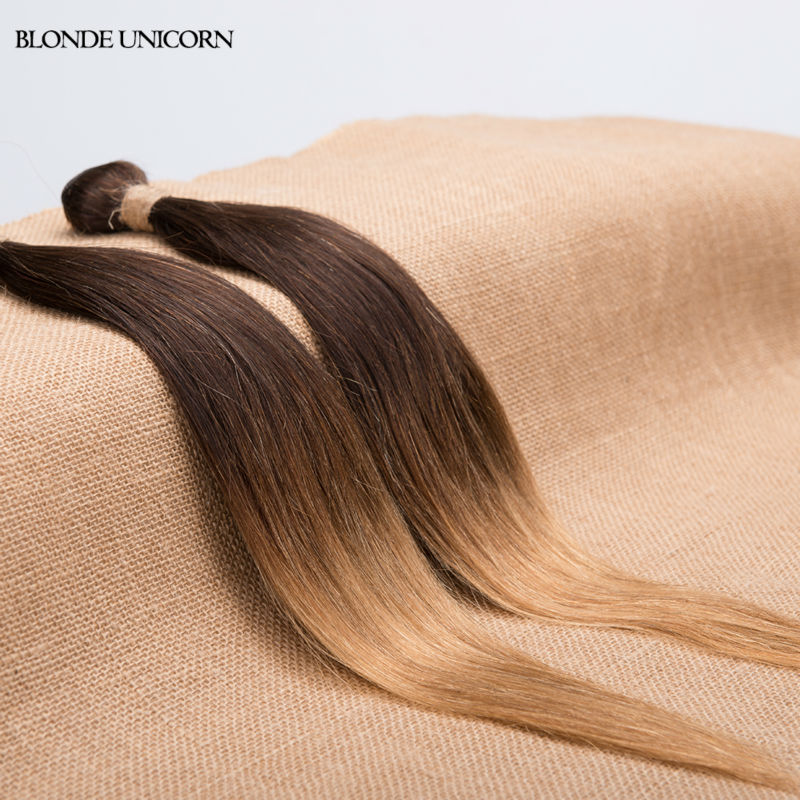 BlONDE UNICORN Ombre Brazilian Hair 6 bundles Brazilian Straight Hair T4 27 30 Ombre Brazilian Virgin