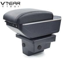 Vtear для VW Tiguan подлокотник коробка usb зарядка повышение двойной слой центральный магазин содержание держатель стакана, пепельница аксессуары 09-17