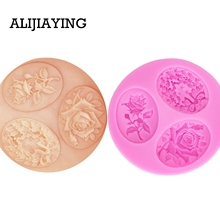 Cake Silicone Soap Cookie-Cutter Molds Cake-Decorating-Tools Pastry Flower-Form Fondant-Moulds