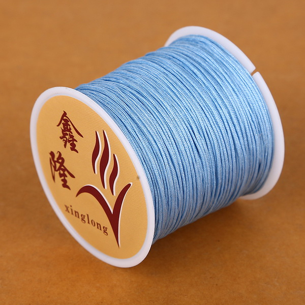 50 метров 0,8 мм нейлоновый шнур, китайский Узелок, шнур макраме, браслет, плетеный шнур, бисероплетение, сделай сам, ювелирный шнур, нить - Цвет: Light Blue