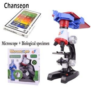 Image 2 - Zestaw mikroskopu Lab z uchwytem na telefon LED School Science zabawka edukacyjna prezent rafinowany mikroskop biologiczny na prezenty dla dzieci