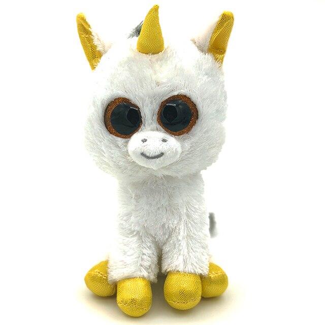 Hot 18cm Stuffed Doll Ty Beanie Boos Animal Cute Unicorn Soft Big eyes beanie  boo Plush 11db2de908c