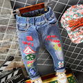 In The Fall of The New Private Label Printing Cartoon Jeans Fashion Jeans