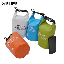 MELIFE Waterproof Sports Kayaking Canoeing Swimming Bag Outdoor PVC Rafting Storage Dry Bags with Adjustable Strap Hook 2L 5L