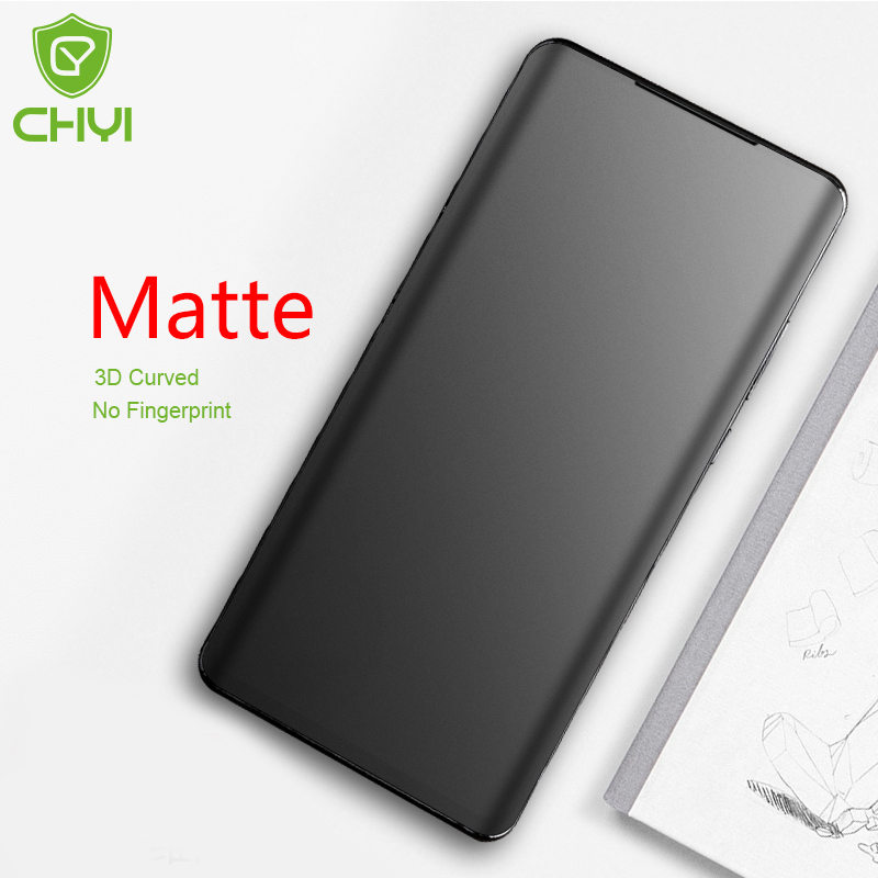 CHYI Matte-Film Curved-Screen-Protector Hydrogel Oneplus No-Fingerprint 7-Pro for Full-Cover