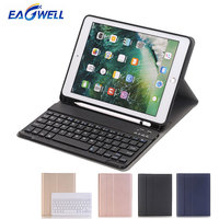 Wireless Bluetooth Keyboard PU Leather Case for New iPad 9.7 inch 2017 2018 for iPad Air 1 Tablet Protective Cover with Keyboard