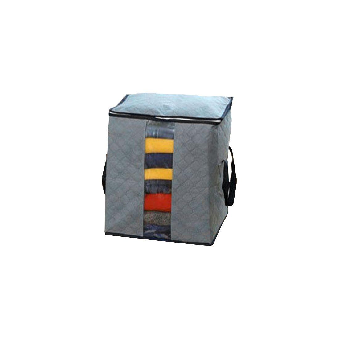 Бамбуковый уголь одежда чехол для хранения Box держатель Сумки серый