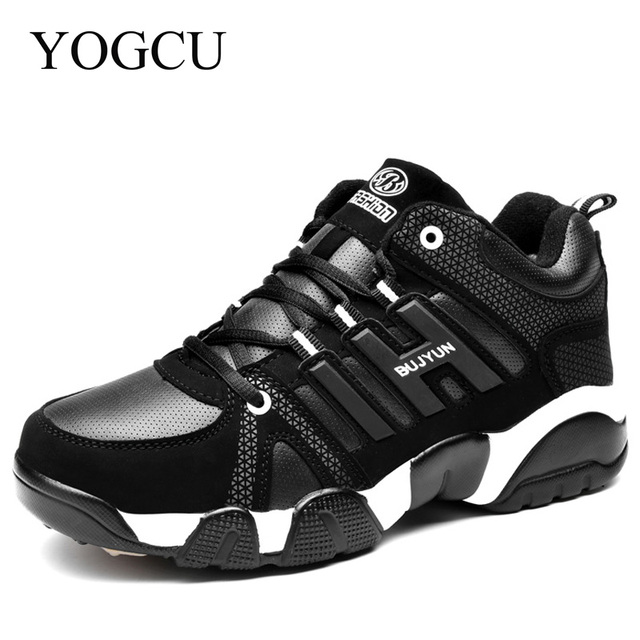 YOGCU Winter Running Shoes For Men Sneakers Women Keep Warm Winter Snow Shoes Masculino Esportivo Krasovki Men 2017 Fur 36-48