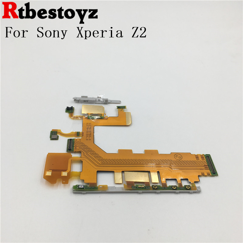 RTBESTOYZ Replacement Motherboard Flex Cable For Sony Xperia Z2 D6503 D6502 D6543 Volume Power Button & Microphone Flex