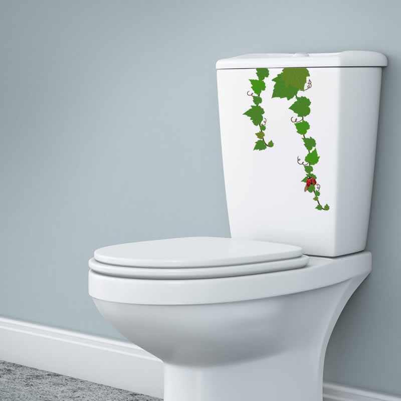 YOJA 22.8X13.9CM Seven Star Ladybug Of Grapevine Toilet Sticker Wall Decal Living Room Home Decor Modern Style T5-1102