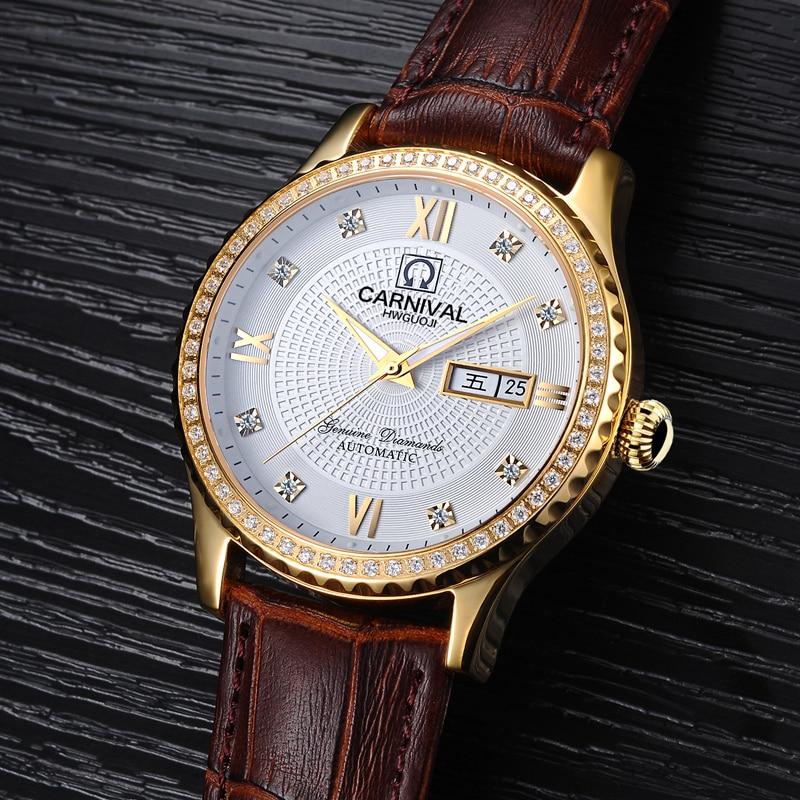 Carnival Watch Men Automatic Mechanical Brand Luxury Men Watches Luminous Sapphire reloj hombre Waterproof Men Watch C-8629-10