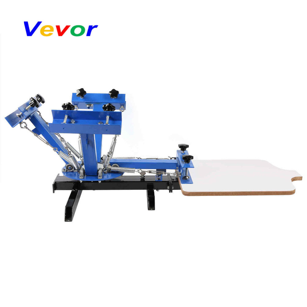 VEVOR Silk Screen Printing Machine 4 Color 1 Station Carousel T-Shirt Pressing