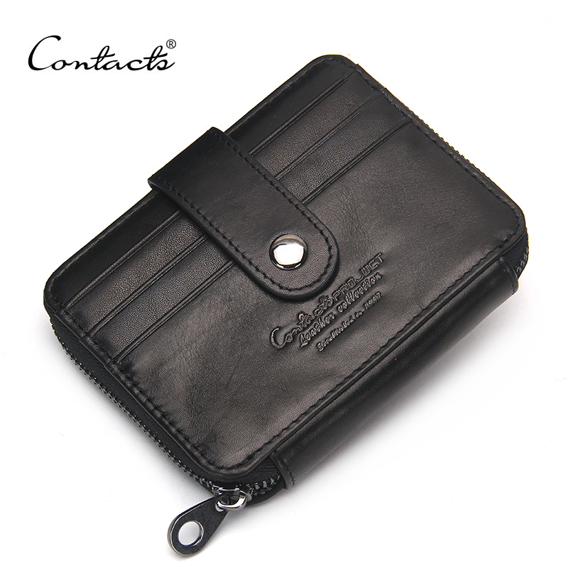 CONTACT'S Genuine Leather Credit Card Fa