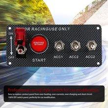 Универсальный переключатель зажигания, кнопка запуска двигателя, гоночный автомобиль, 3 Панель переключения, 12 В, профессиональный переключатель RC для модификации автомобиля