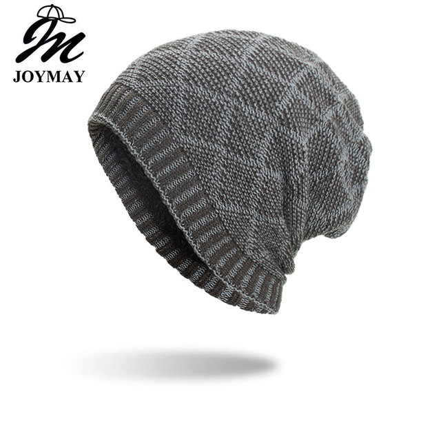 Joymay 2018 New Winter Beanies Hat Unisex Plain Warm Soft Skull Knitting  Cap Hats Gorro Caps For Men Women Dropshipping WM101 b3188ff92ae