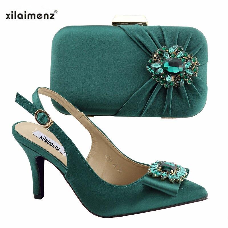 Verde Boda Conjunto Italiano Black Zapatos Estilo Bombas Bolso Fiesta blue Juego green silver Real De Nigeriano Y Mujer wine A BOgnz6qw