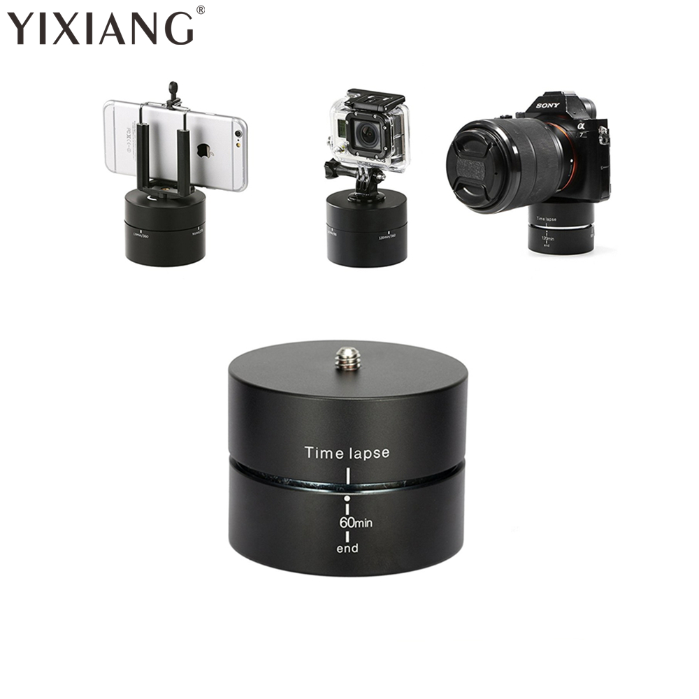 YIXIANG Time lapse 360 gradi di Rotazione Automatica Camera tripod testa di base 360 TL timelapse Per Xiaoyi per Gopro Macchina Fotografica REFLEX per iphone