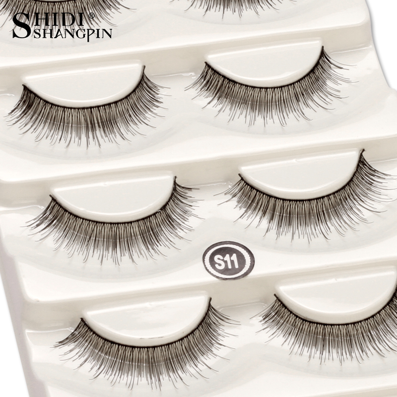 Sexy 5 Pairs Natural Eyelashes Makeup Long False Eyelashes Cruelty