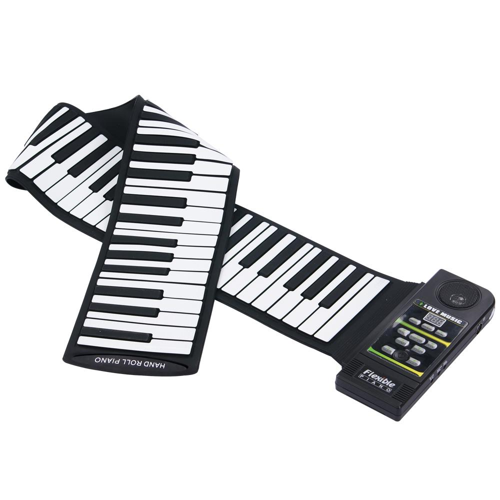 цена на KONIX 88Keys 28 Tones 100 Rhythms Electronic Flexible Roll Up Piano USB & MIDI Port with Speaker for Children