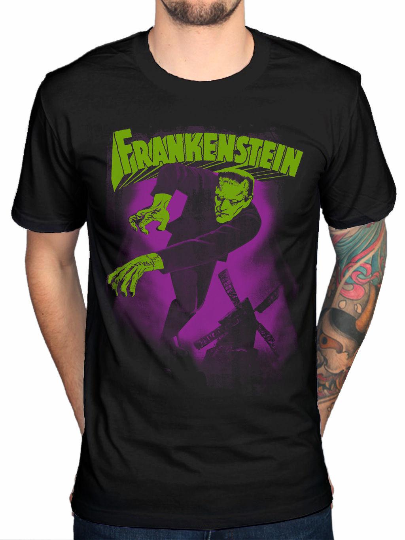 Plan 9 Frankenstein Karloff New Unisex T-Shirt Merchandise Mens Black New 2018 Summer Style T-Shirt
