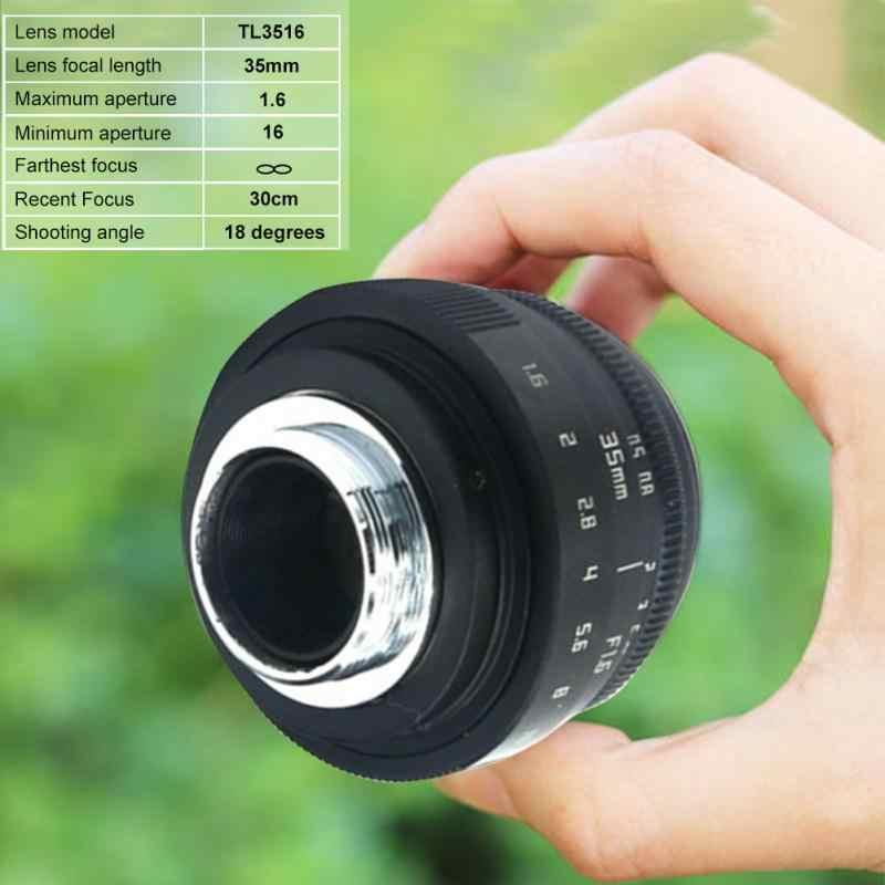 35 мм F1.6 C крепление линзы CCTV мини-объектив камеры для N1 Fujifilm Универсальный мини домашний металлический аксессуар без адаптера