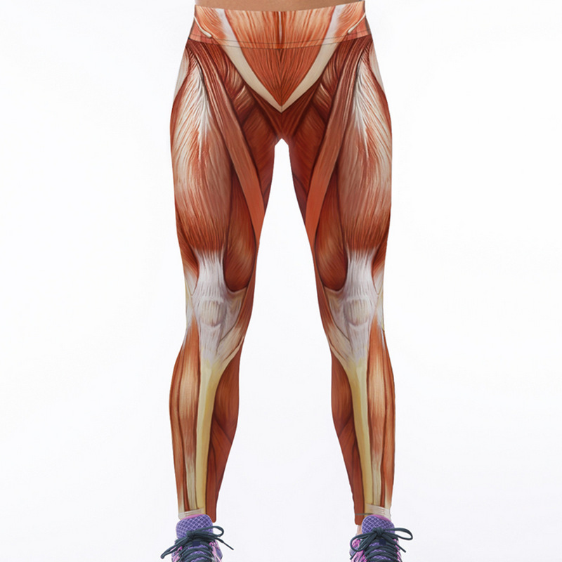 Plus Size Muscle Digital Printing Women s font b Fitness b font Leggings Workout Pants Ladies