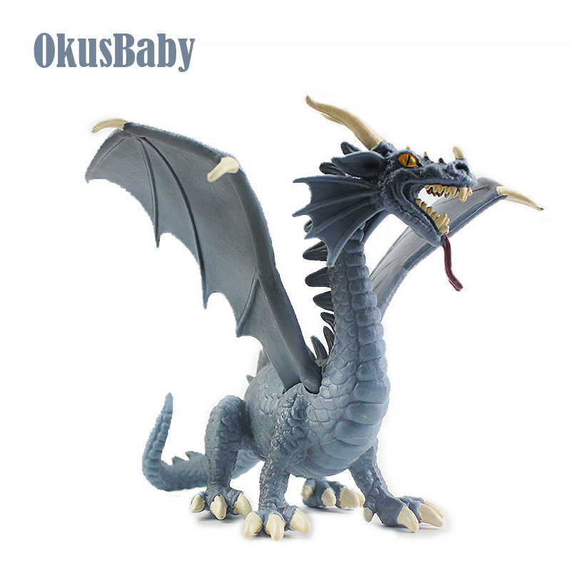 2019 Novo Estilo 17cm PVC Azul Fly Dragão Brinquedos de Dinossauros Figura Crianças Emulational Animais Modelo Do Brinquedo Caçoa o Presente Europeia