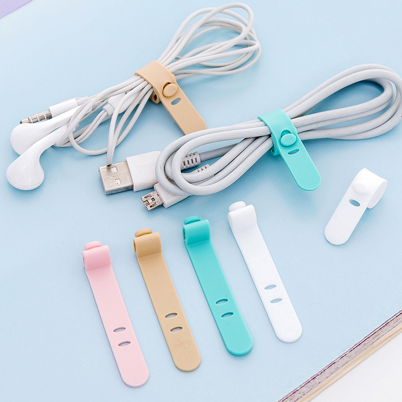 ETya Candy Colour Travel Accessories Women Men Silica Gel Cable Winder Earphone Data Line Protector Packing Organizers Holder