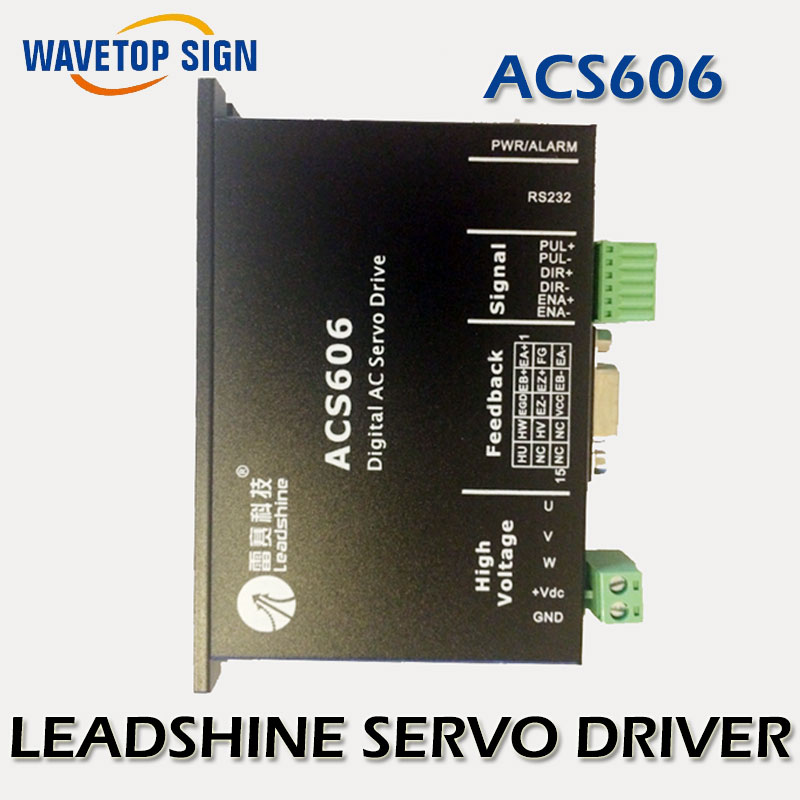 LEADSHINE  DC SERVO DRIVER  ACS606 - Brushless Servo Drive; Max 60 VDC / 18A Peak leadshine acs606 digital ac servo dc brushless servo drive for leopard myjet allwin digital printer driver