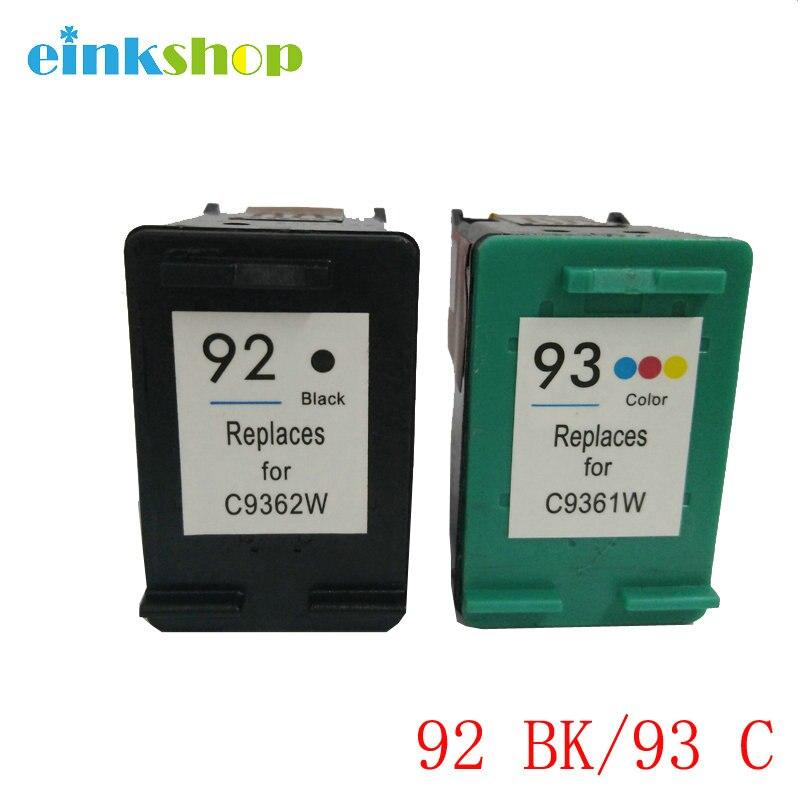 einkshop Remanufactured Ink Cartridge Compatible for hp 92 93 For PhotoSmart C3100 C3110 C3150 C3183 C3180 PSC 1510 1600 Printer