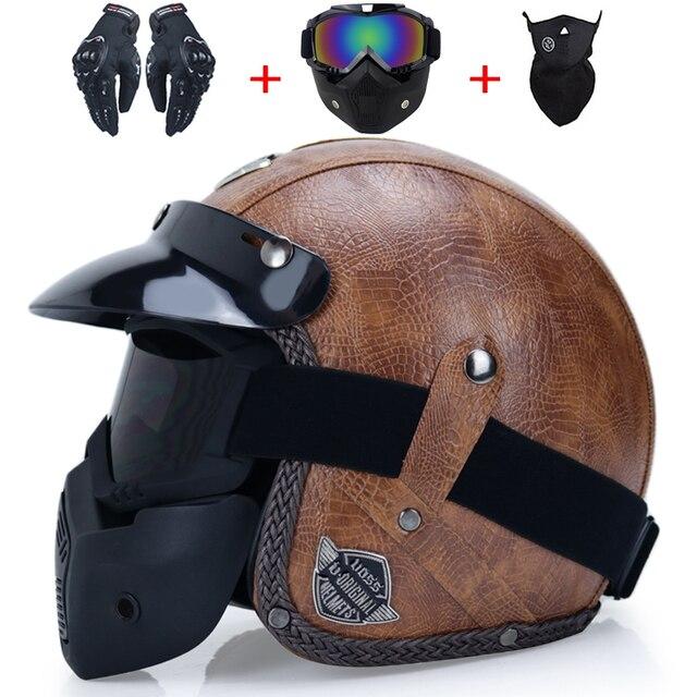 Retro Motorcycle Helmet 6