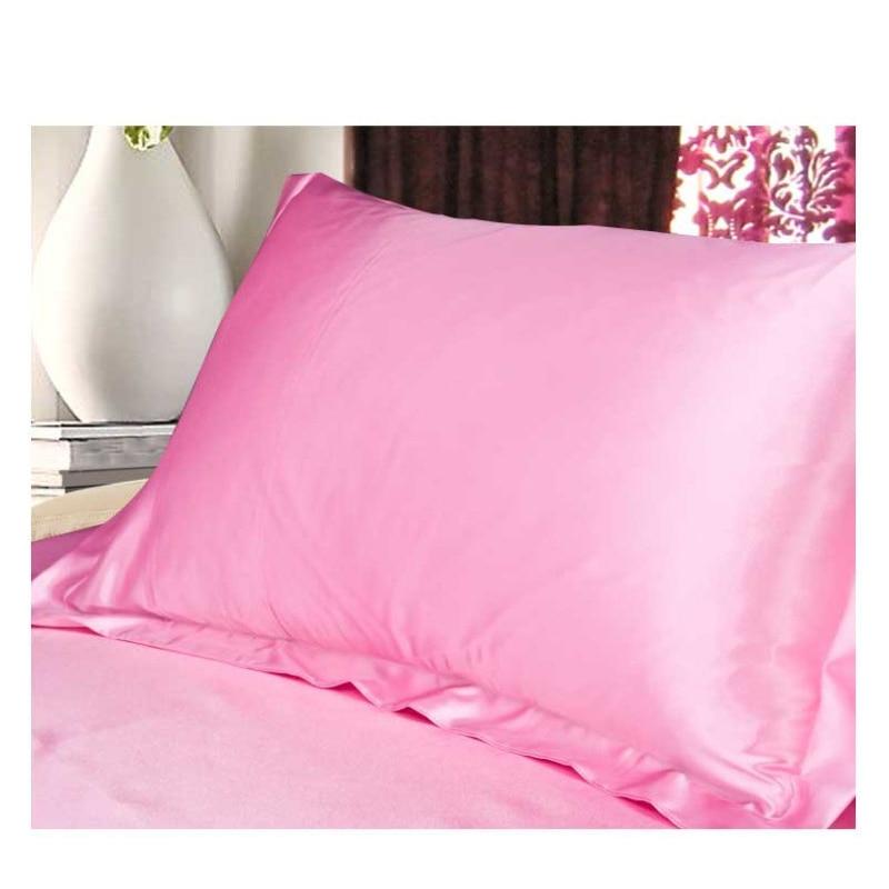 1pcs Solid Colour Satin Pillowcase Silk Imitation 48 74cm