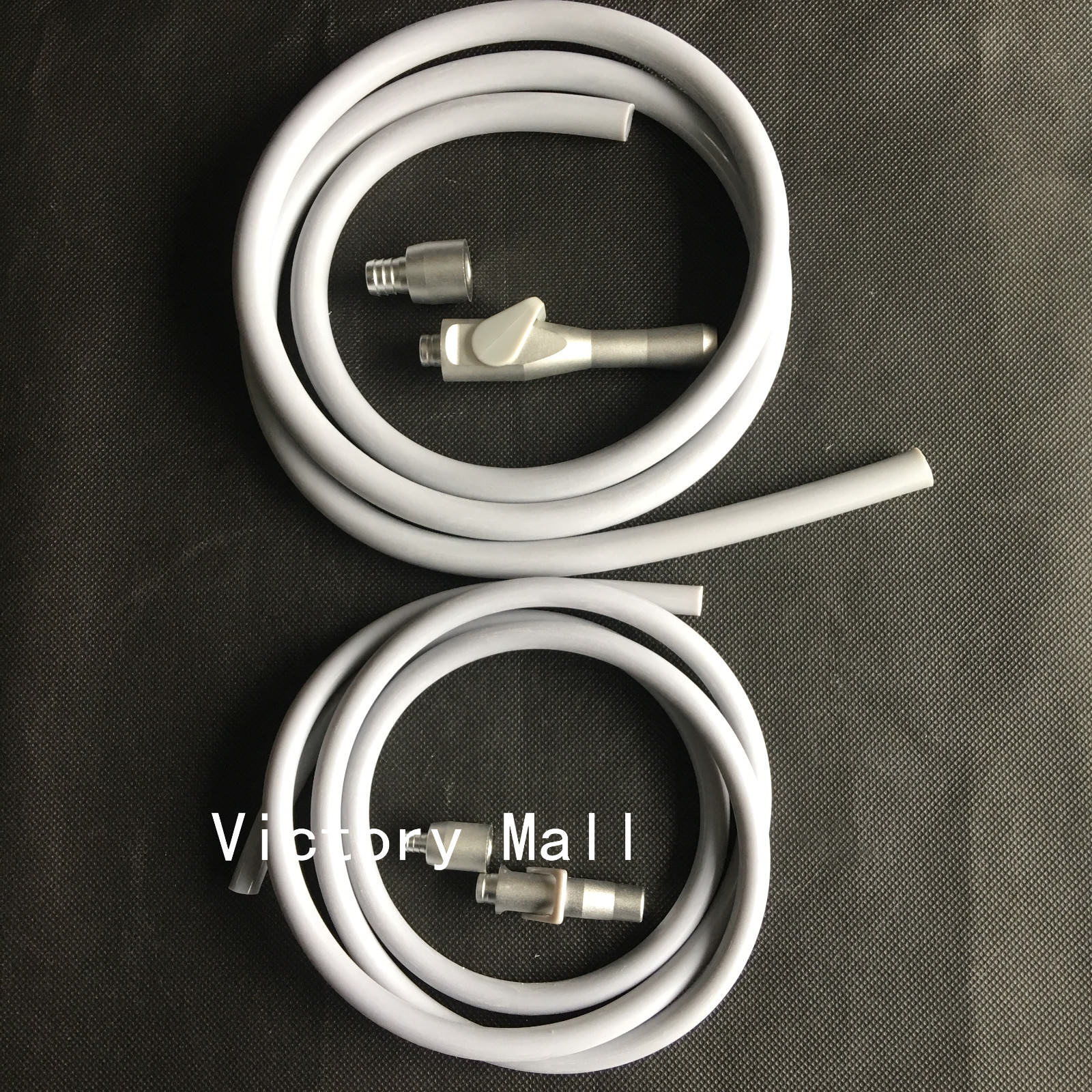 New Dental Saliva Ejector Suction Valves SE/HVE Tip Adaptor + 2 Tubing Hose